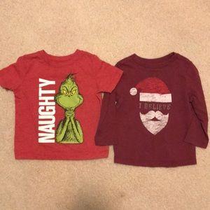 Other - Christmas shirts Santa Grinch Lot